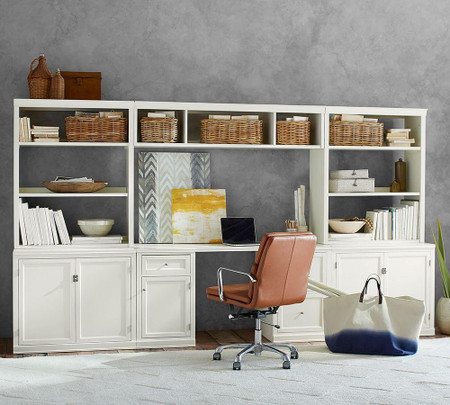 Logan Office Suite With Cabinet Doors & Bridge