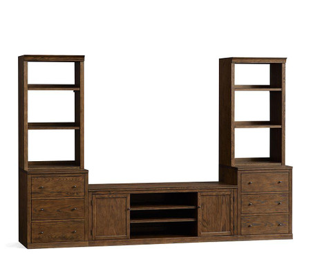 Logan Entertainment Center with Drawer Bookcase