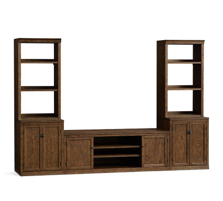 Logan Small Entertainment Center, Hewn Oak