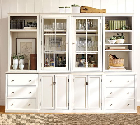 Logan Wall Suite With Bookcases & Glass Cabinets