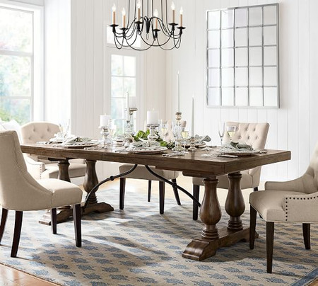 Lorraine Extending Dining Table, Hewn Oak