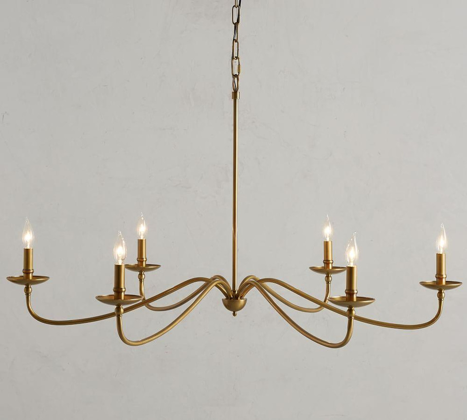 Lucca Chandelier Brass Pottery Barn Canada