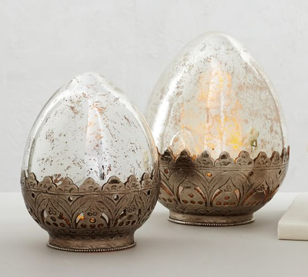 Madeline Mercury Glass Eggs