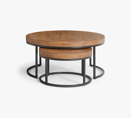 Malcolm Round Nesting Coffee Tables, Nesting Coffee Tables Round