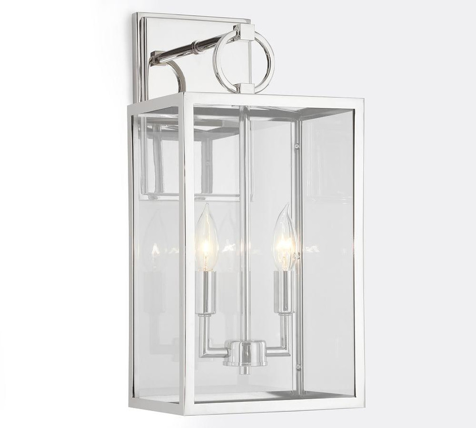 Manor Indoor/Outdoor Glass Sconce