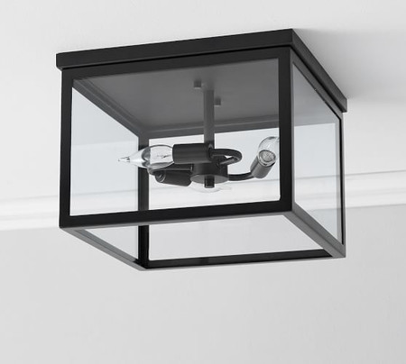 Manor Indoor/Outdoor Glass Flush Mount