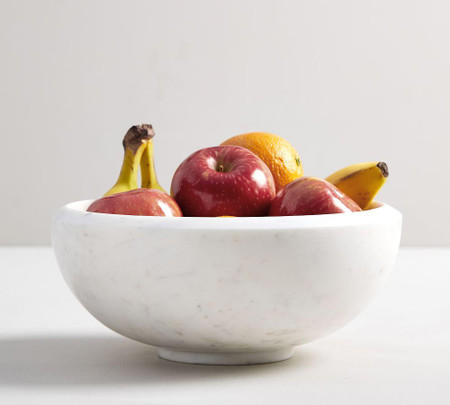 White Marble Fruit Bowl