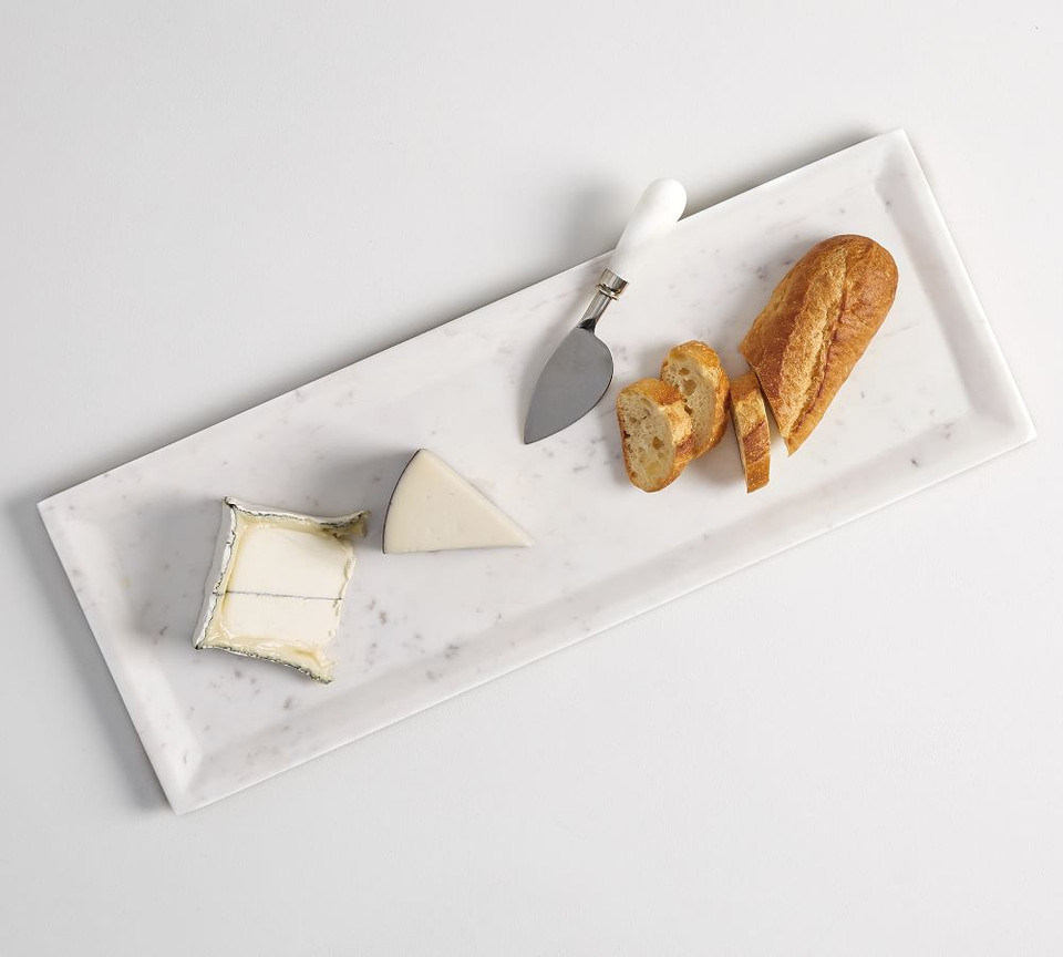White Marble Rectangular Cheese Board Pottery Barn Canada