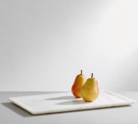 White Marble Rectangular Platter