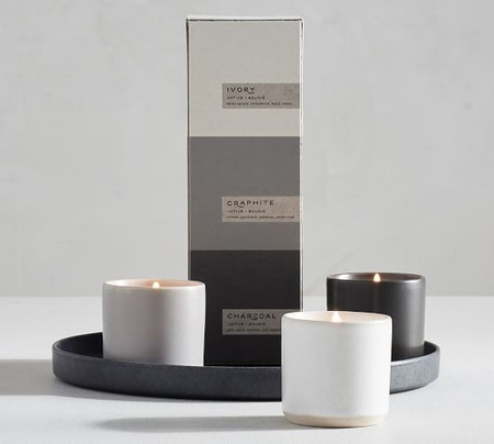 Mason Ceramic Scented Candle Gift Set