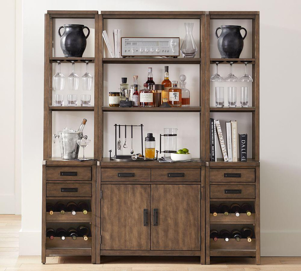 Mateo Modular Bar with Cabinet & Hutch