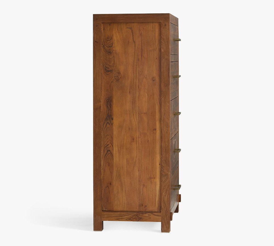 Menlo Reclaimed Teak 5-Drawer Tall Dresser