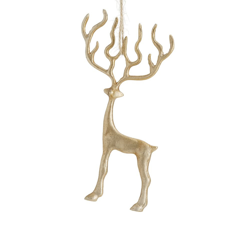 Brass Merry Reindeer Ornament Pottery Barn Canada