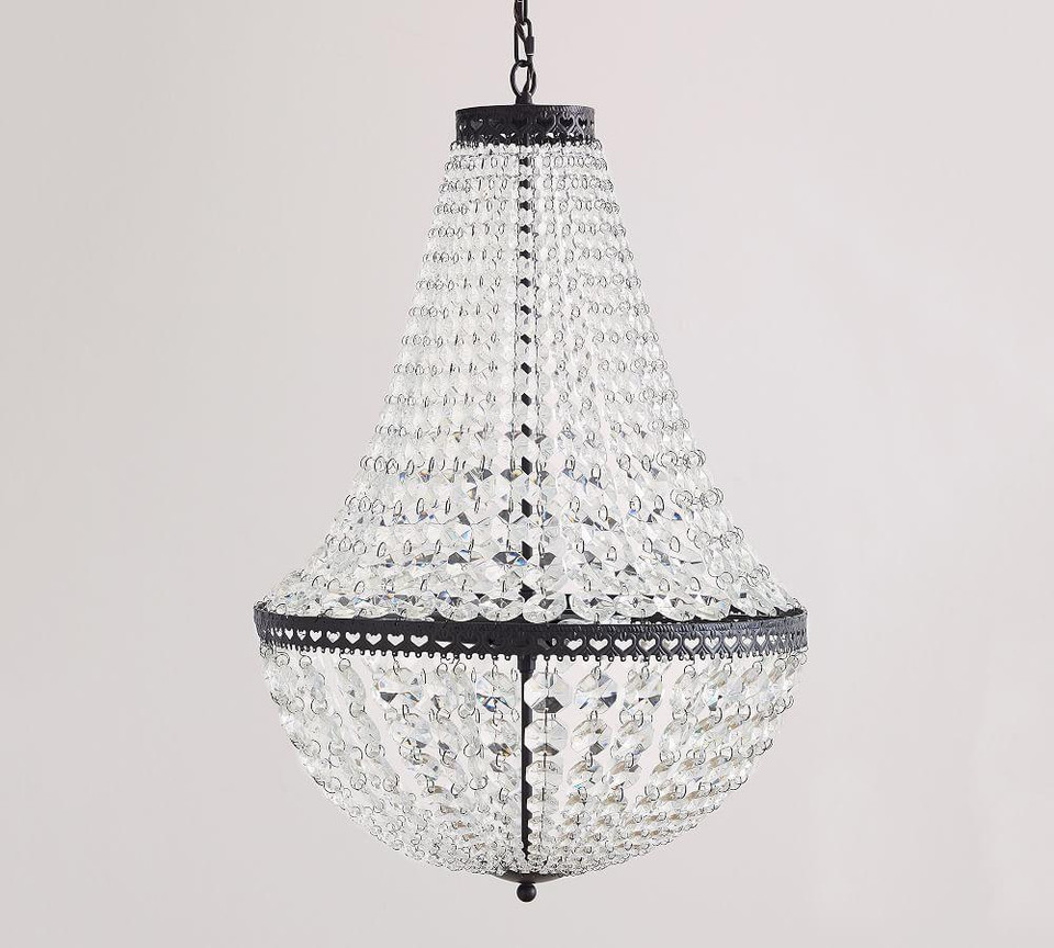 Mia Faceted Crystal Chandelier Pottery Barn Canada