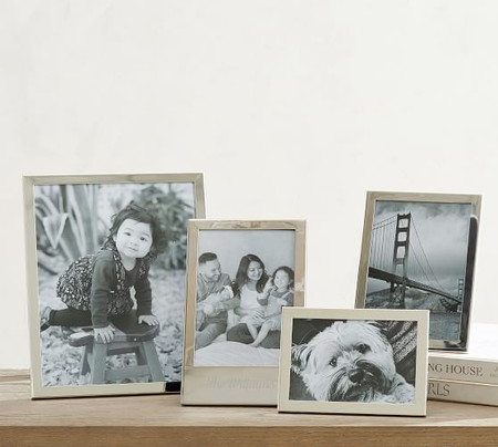 Modern Silver Personalized Frames