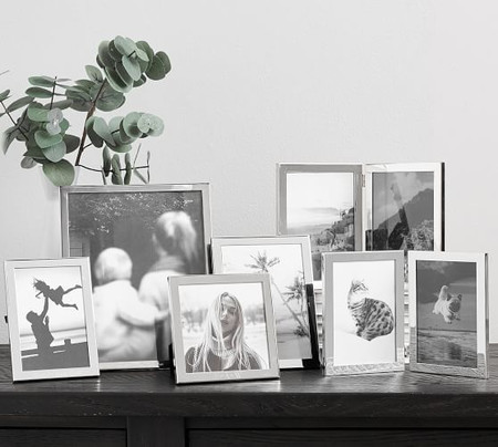 Personalized Modern Silver-Plated Frames