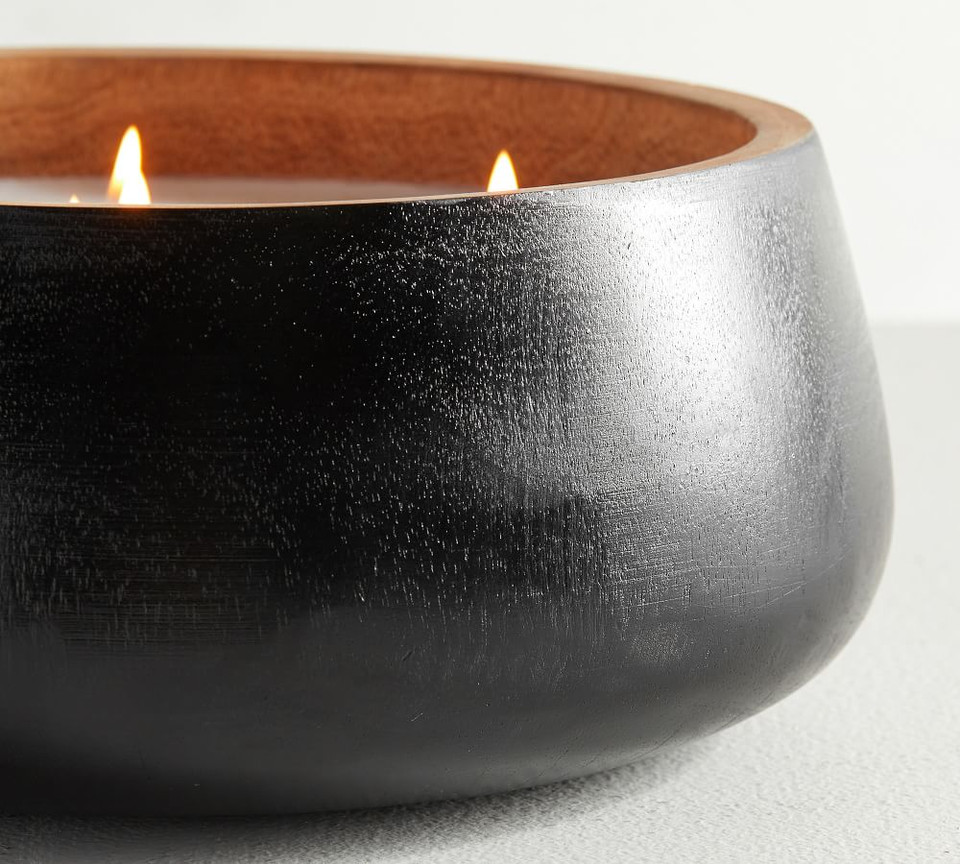 Modern Wood Scented Candles - Linen Cashmere