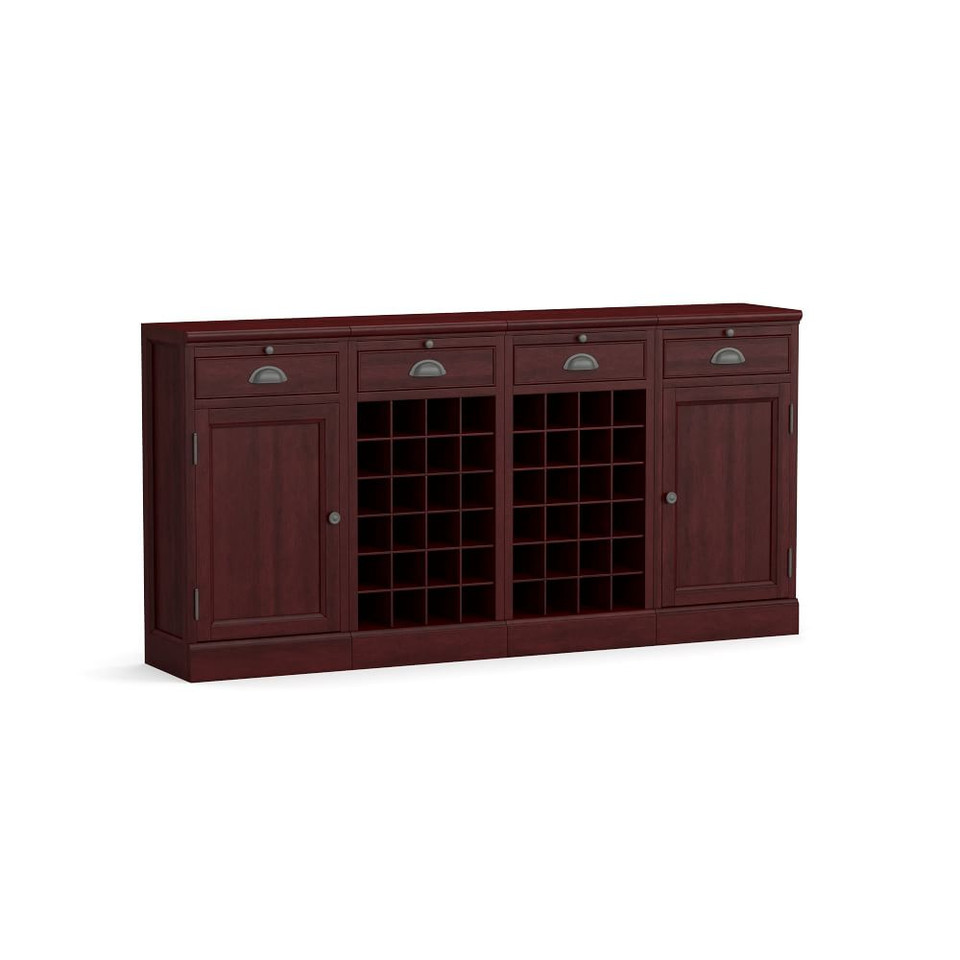 "Modular Bar 72"" Buffet With Double Wine Grid"