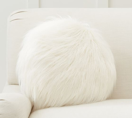 Mongolian Faux Fur Disk Pillow