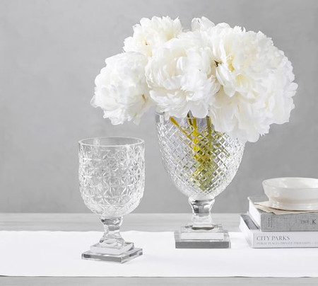 Monique Lhuillier Ava Clear Cut Glass Vase