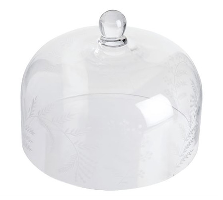 Monique Lhuillier Gabrielle Etched Glass Cake Dome