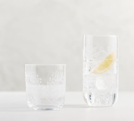 Monique Lhuillier Gabrielle Etched Cocktail Glasses
