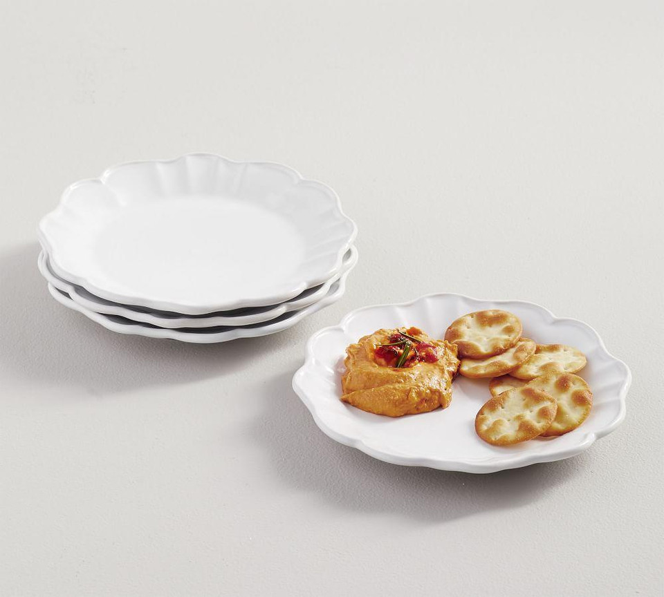 Monique Lhuillier Juliana Scalloped Appetizer Plate