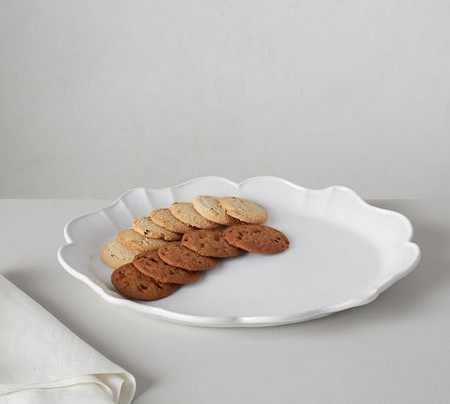 Monique Lhuillier Juliana Scalloped Serving Platter