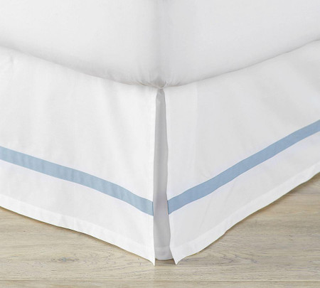 Morgan 400-Thread-Count Organic Bed Skirt - Blue Opal