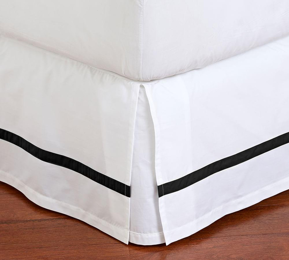 Morgan Organic Percale Bed Skirt