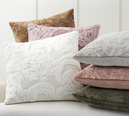Natalia Silk Jacquard Pillow Covers