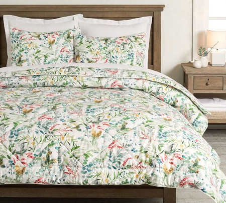 Noel Botanical Percale Comforter & Shams