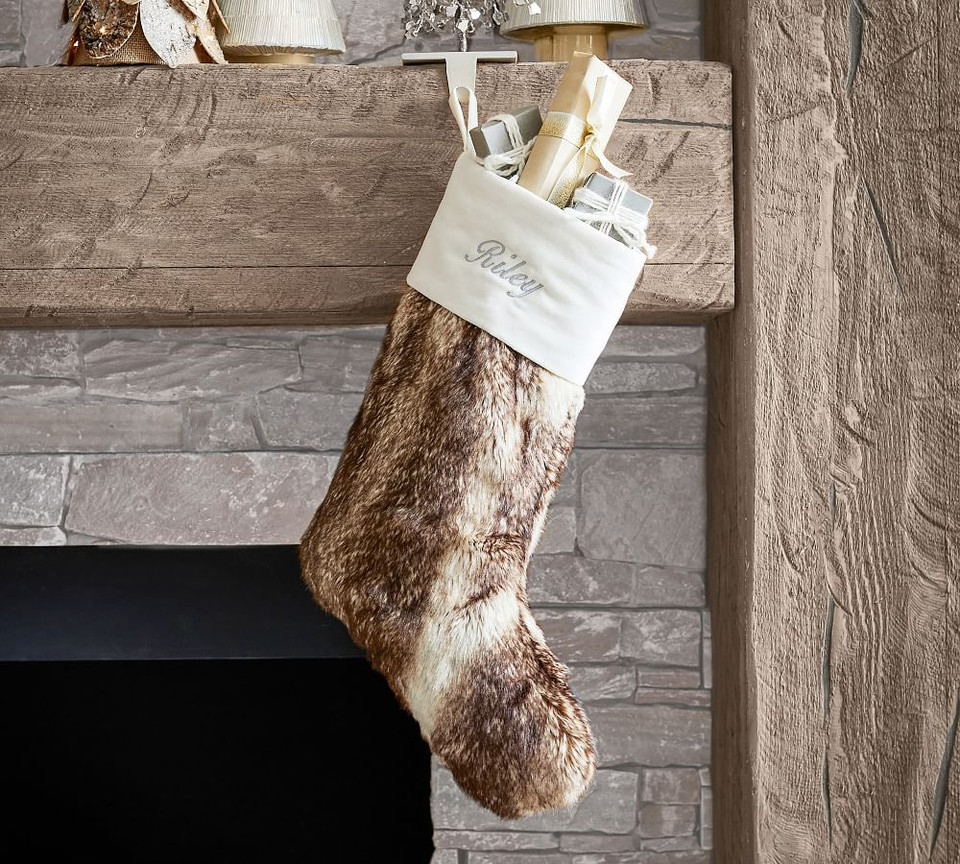 Ombre Faux Fur Personalized Stockings Pottery Barn Canada