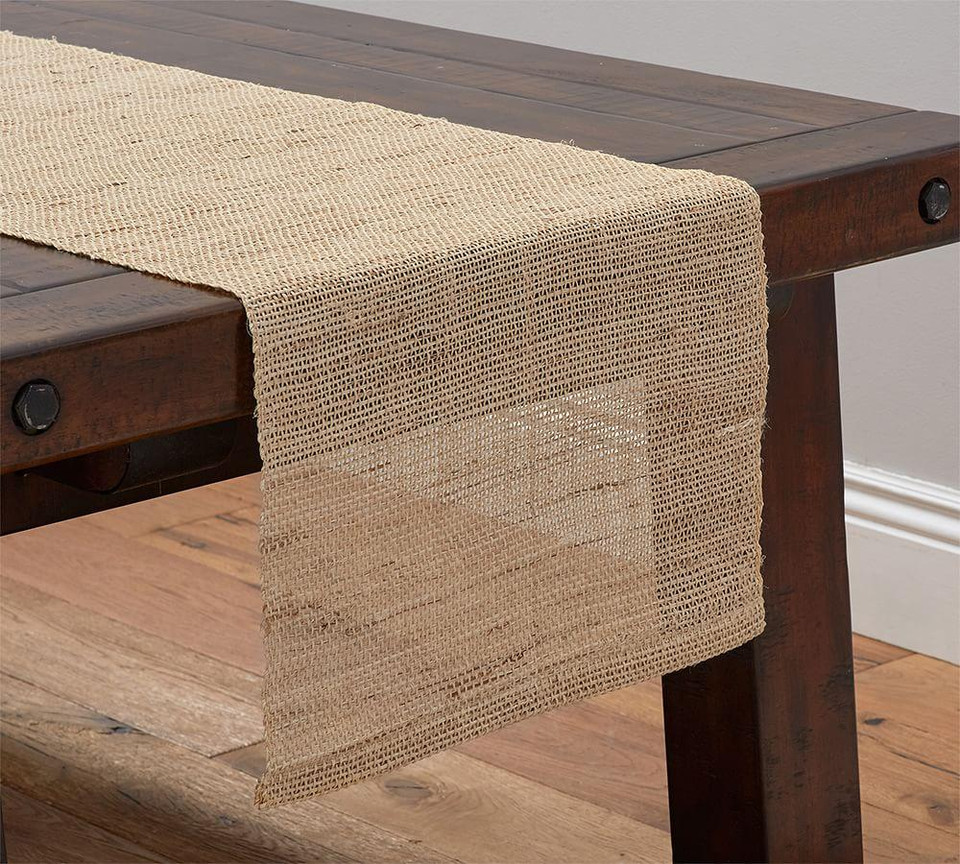 Open Weave Hemp Fiber Table Runner