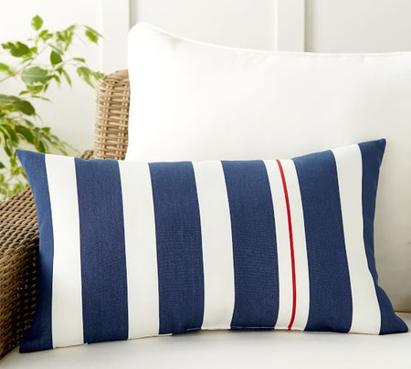 Ajay Striped Indoor/Outdoor Pillow