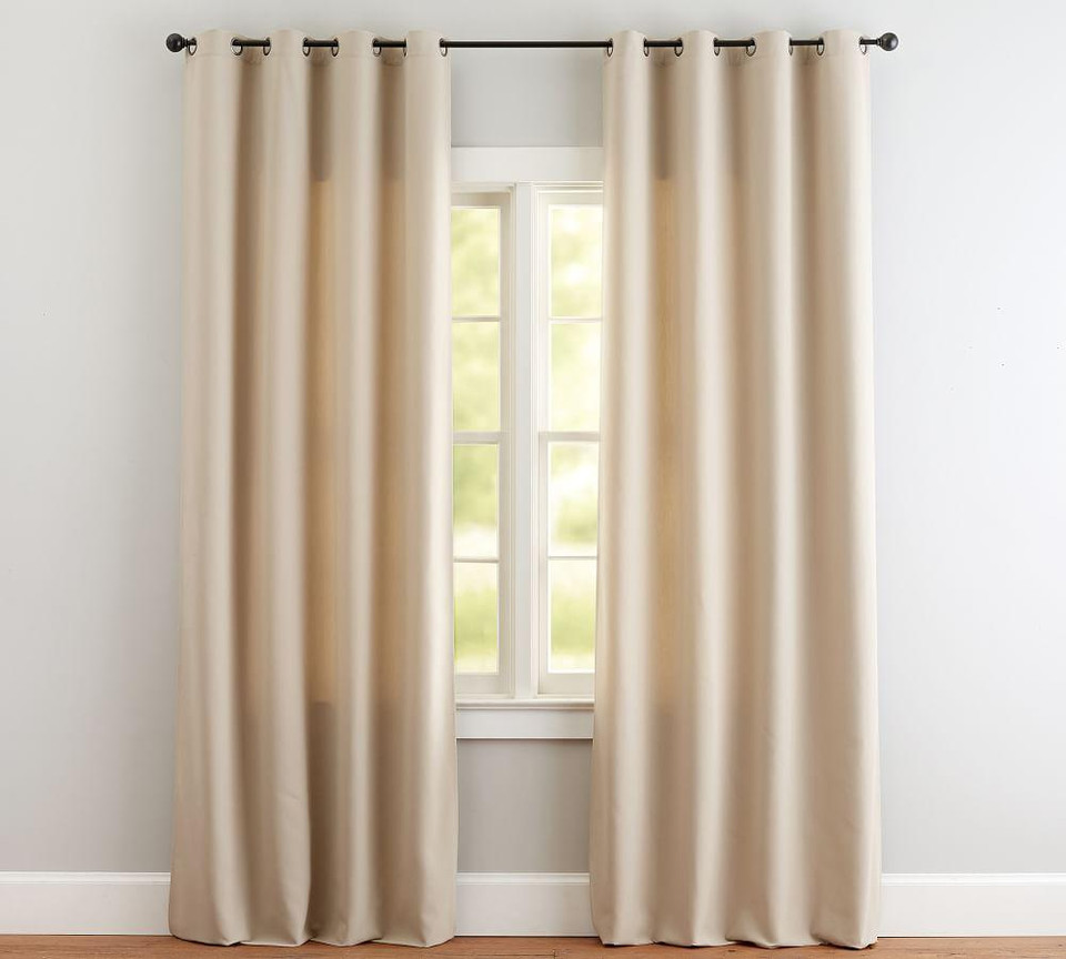Indoor Outdoor Grommet Curtain Stone Pottery Barn Canada