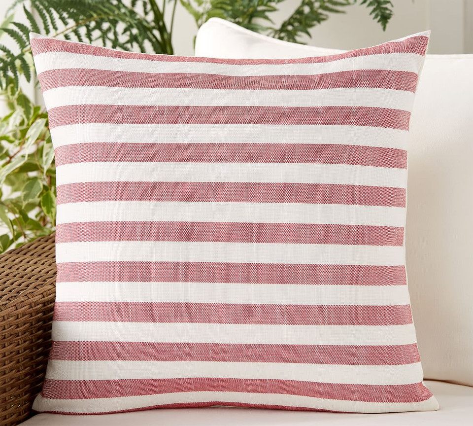 Leandra Reversible Striped Indoor/Outdoor Pillow