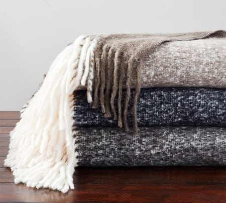 Benny Faux Mohair Throw