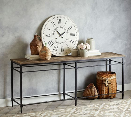 Parquet Reclaimed Wood Grand Console Table
