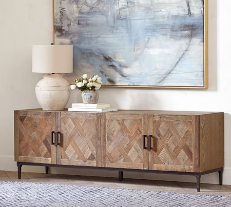 Parquet Reclaimed Wood Media Console