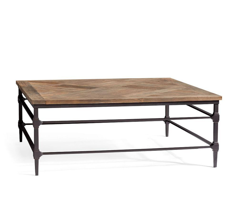 Parquet Reclaimed Wood Square Coffee Table