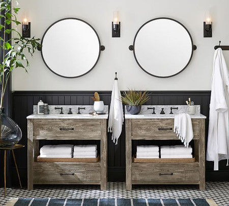 "Paulsen Reclaimed Wood Single Sink Vanity – 36""​"