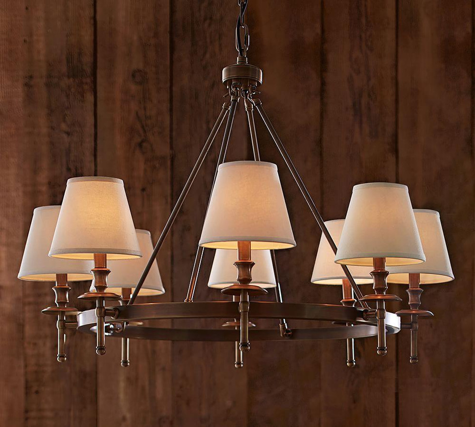 Linen Chandelier Shades, Set of 3