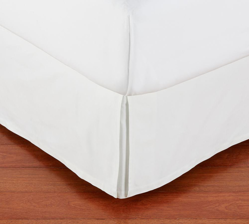 Pb Basic Pleated Cotton Bed Skirt Pottery Barn Canada