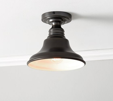 PB Classic Flush Mount - Curved Metal Bell