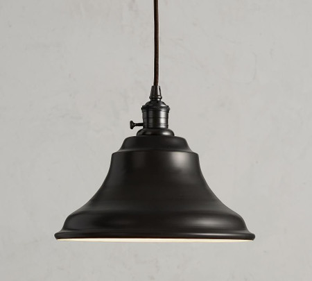 PB Classic Cord Pendant - Curved Metal Bell