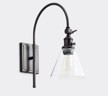 PB Classic Arc Sconce - Flared Glass