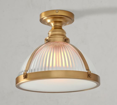 PB Classic Industrial Flush Mount - Ribbed Glass
