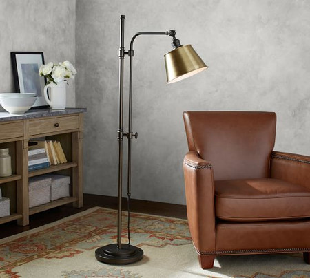 PB Classic Articulating Floor Lamp with Tapered Metal Shade