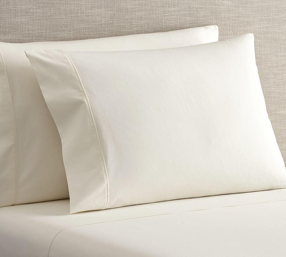 Pb Classic 400 Thread Count Organic Percale Sheet Set